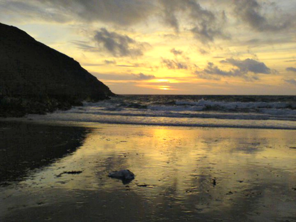 Saint Patrick's Isle Beach in the Isle of Man.
