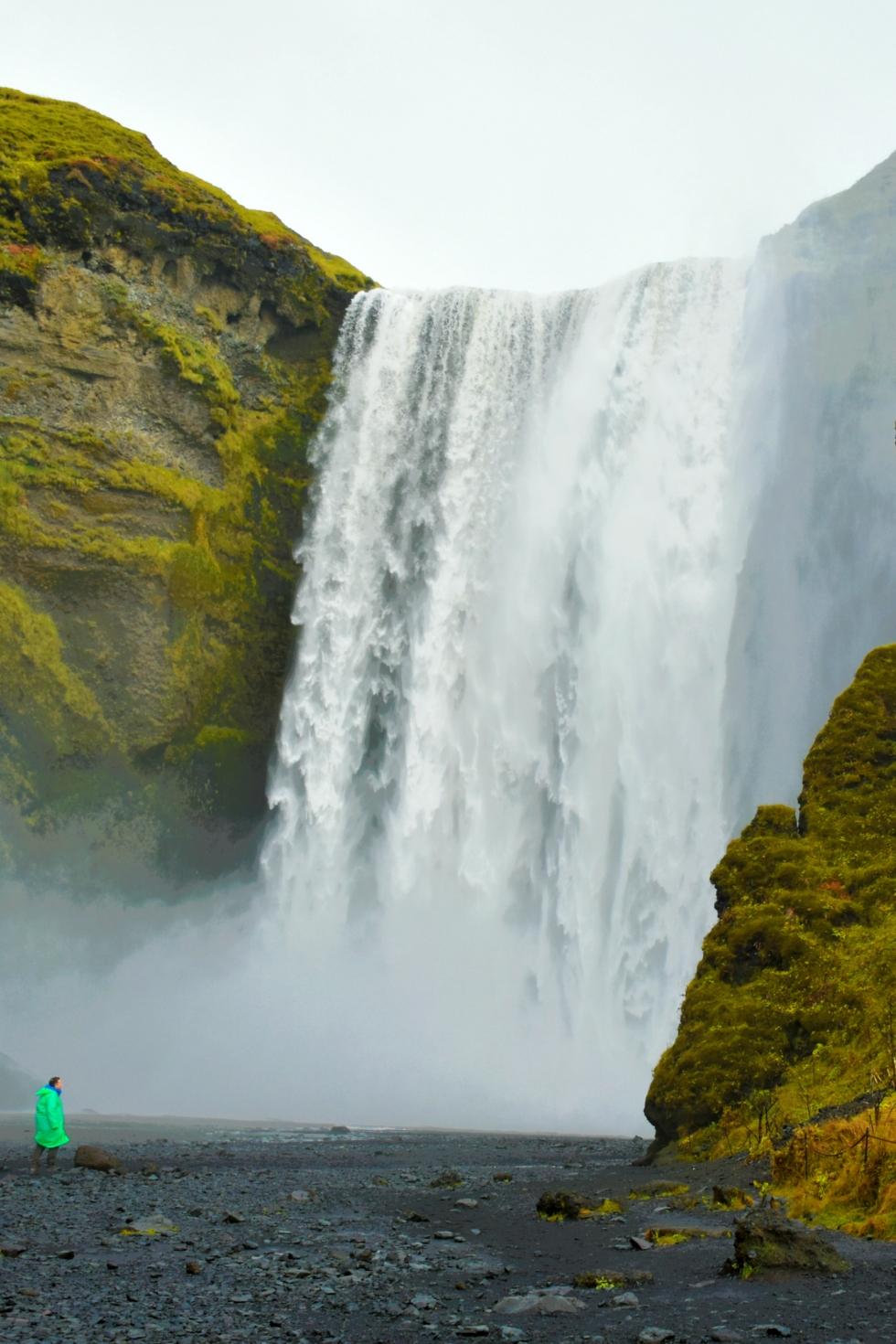 Skogafoss waterfall in Iceland, by Desiree Anstey